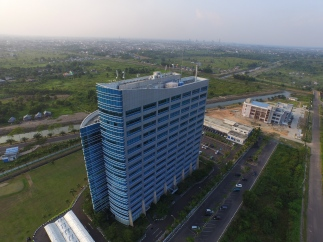 The tallest building at Palembang City (2017), bank Sumsel Babel Building