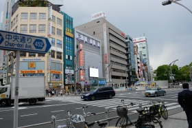 Perlintasan dan Penyeberangan di dekat Ueno Park