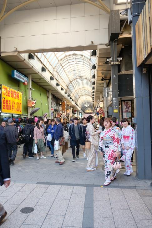 """Baju """"yukata"""" di tempat-tempat wisata dapat disewa"""