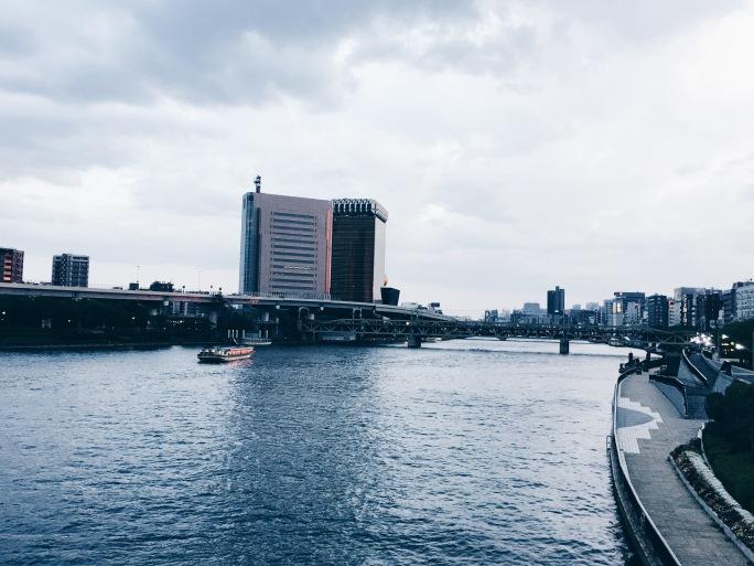 View dari atas jembatan